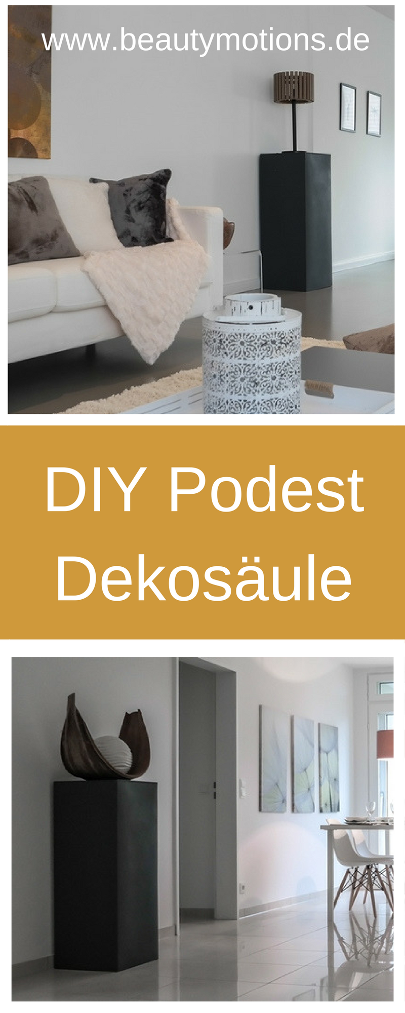 diy podest dekos ule beautymotions by petra bach. Black Bedroom Furniture Sets. Home Design Ideas