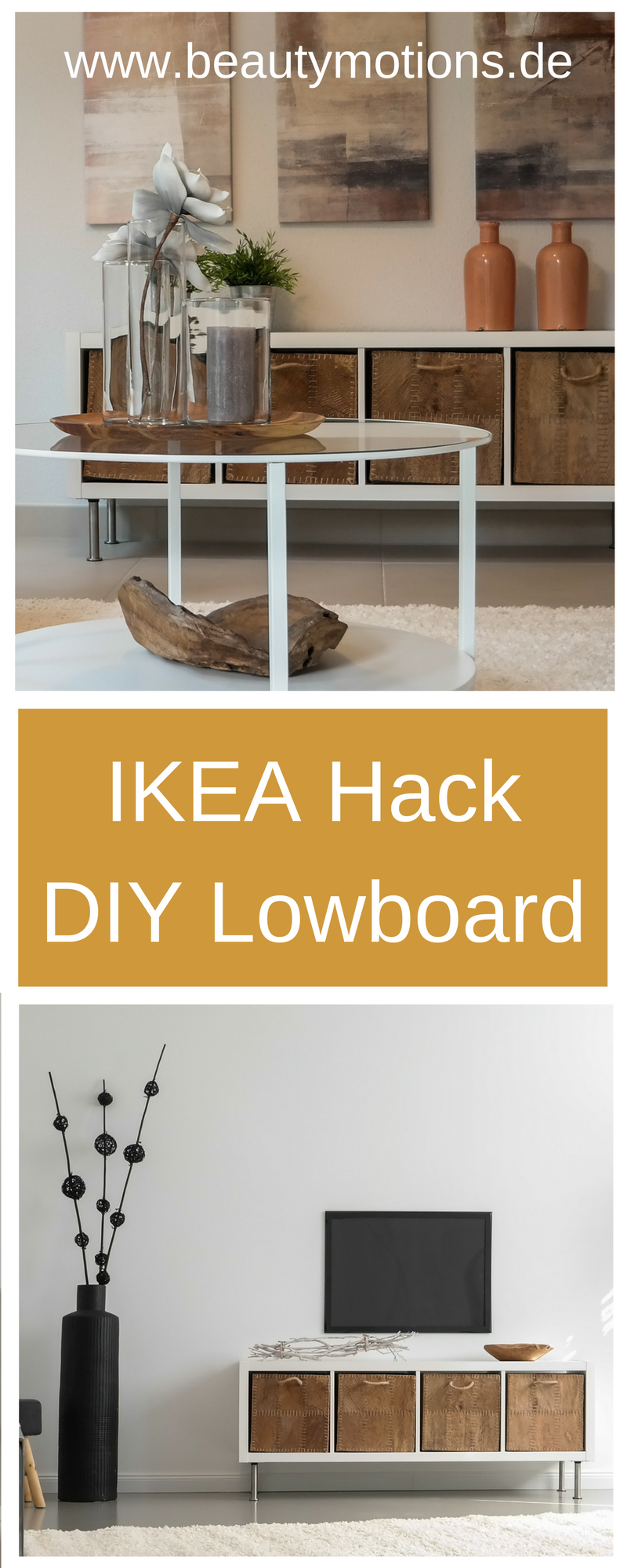 diy ikea hack lowboard selber machen beautymotions by. Black Bedroom Furniture Sets. Home Design Ideas